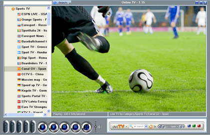 Click to view OnLine TV Lite 1.32 screenshot